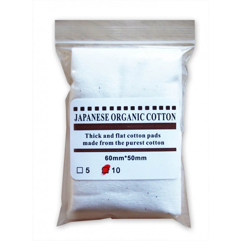 100% Pure Organic Japanese cotton 10pk