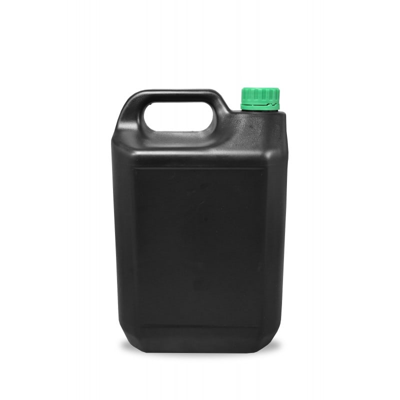 5 Litres HDPE Jerrican and Tamper Evident Cap (38mm) - Black