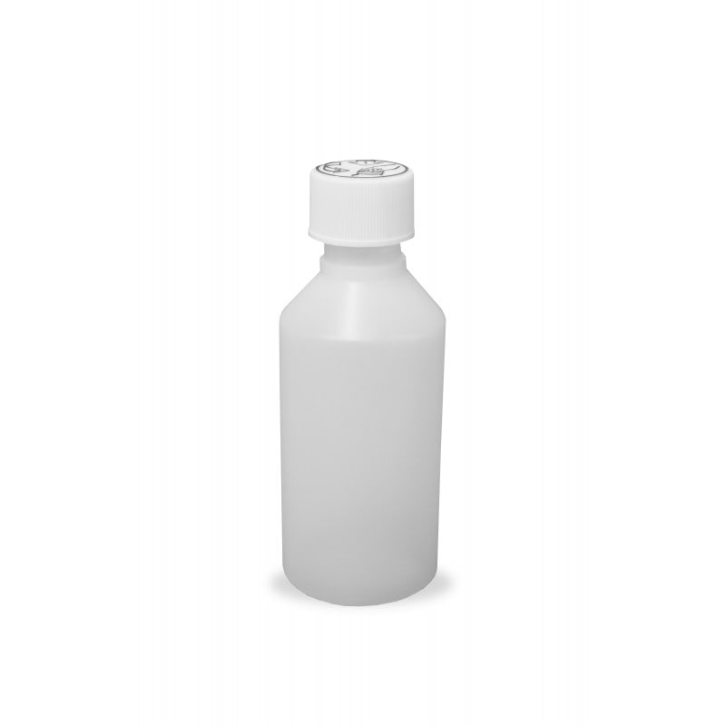 100ml HDPE Bottles and Child Proof Caps (20mm)