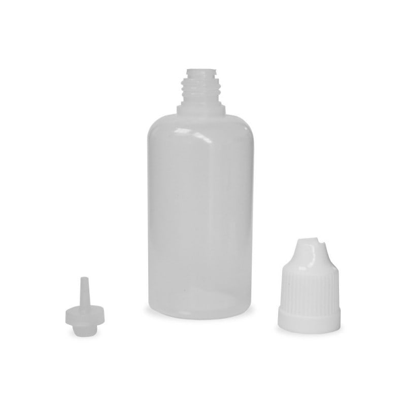 50ml Natural LDPE (squeezable) Dropper Bottle